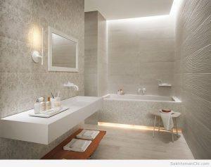 طراحی سرویس بهداشتی - سرویس بهداشتی سفید