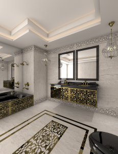 طراحی سرویس بهداشتی لاکچری - قصر نور